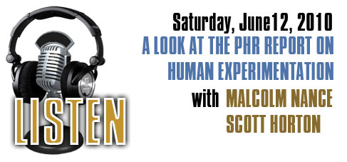Saturday, June 12 Radio Show-Malcolm Nance and Scott Horton